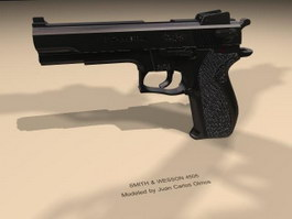 Smith & Wesson M4505 pistol 3d model preview