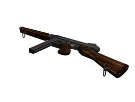Thompson submachine gun 3d preview