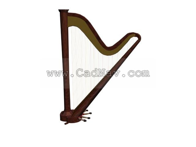 Harp 3d rendering