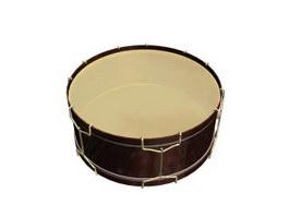 Tenor drum 3d model preview
