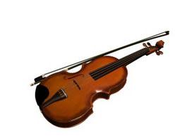Violin instrument 3d model preview