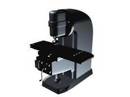 Milling machine 3d model preview