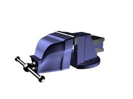 Engineers bench vise 3d model preview