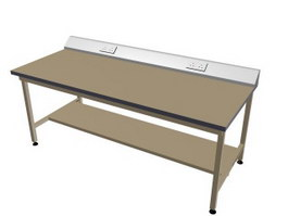 Woodworking workbench 3d model preview