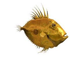 San Pedro Fish 3d model preview