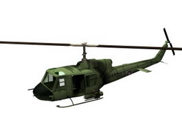 UH-1Y Super Huey utility helicopter 3d model preview