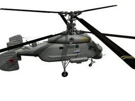 K25A anti-submarine helicopter 3d model preview