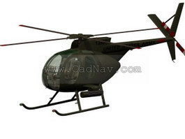 OH-6A Cayuse Light Observation Helicopter 3d model preview