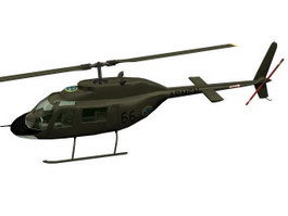Abjetr Attack Helicopter 3d model preview