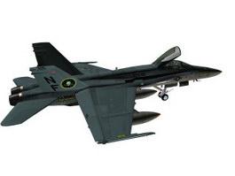 F-18A Hornet Multirole fighter 3d model preview