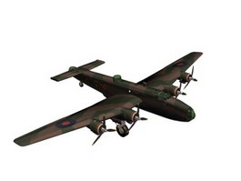 Handley Page Halifax 3d model preview