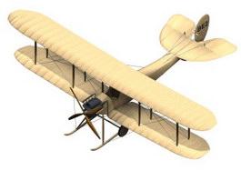 B.E.2 Royal Aircraft 3d model preview