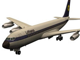 Boeing 707 aircraft 3d model preview