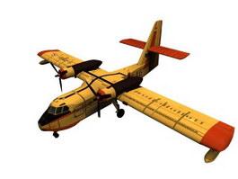 Candair aircraft 3d model preview