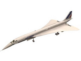 Aérospatiale-BAC Concorde Aircraft 3d preview