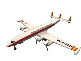 Lockheed Constellation Aircraft 3d model preview