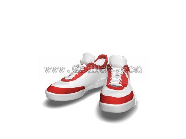 Men's sports shoes 3d rendering