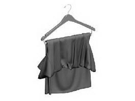 Lady silk clothes 3d preview