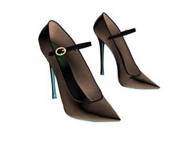 Ladies pumps shoes 3d preview