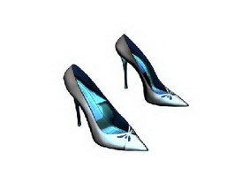 Lady fashion high heel shoes 3d preview