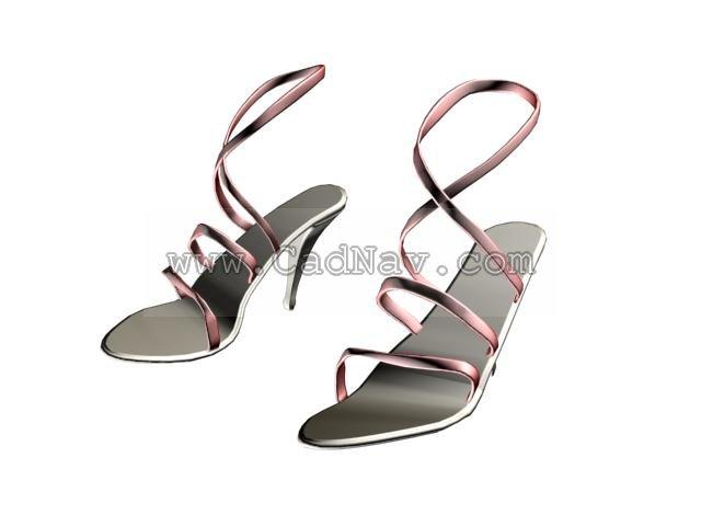 Sexy fashion women sandals 3d rendering