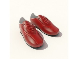Genuine leather men dress shoes 3d preview