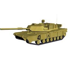 Abrams tank 3d model preview