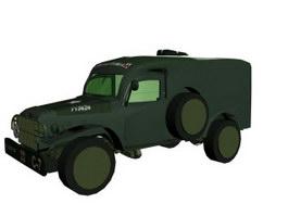 AMBWC54 field ambulance 3d model preview