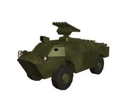 BRDM3 anti-tank missile vehicle 3d model preview