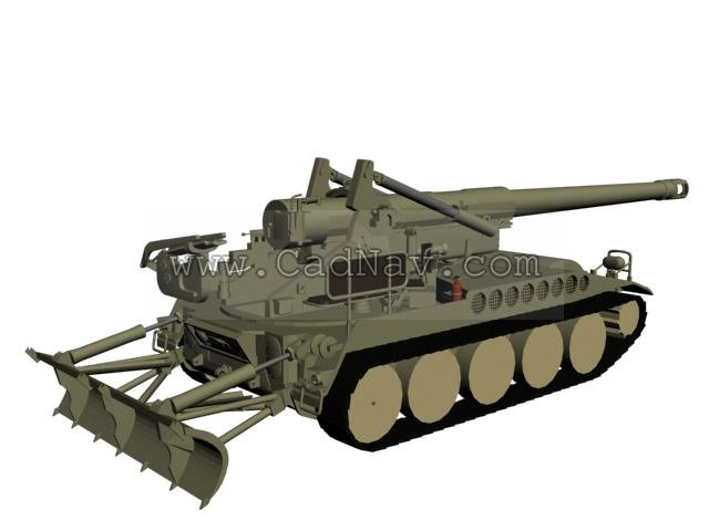 M110A2 Self-Propelled Howitzer 3d rendering