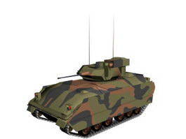 M2A2 Bradley Fighting Vehicle 3d model preview