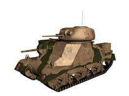 Medium Tank M3 Grant 3d model preview