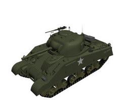M4 Sherman Medium Tank 3d model preview