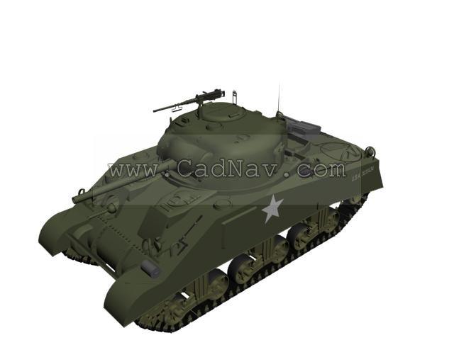 M4 Sherman Medium Tank 3d rendering