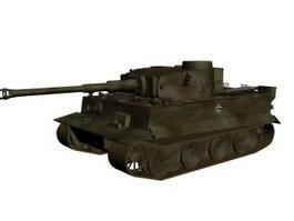 Tiger Ausf German heavy tank 3d model preview