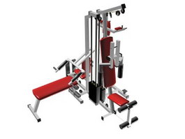 Multi-functional gym equipment 3d preview