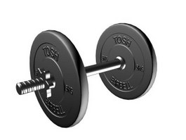 TOSH Gym equipment dumbbell 3d model preview