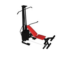 Seat Horizontal Pulley GYM equipment 3d preview