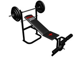 Multi adjustable Weight Bench 3d preview