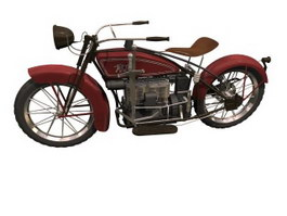 ACE Retro Style Motorcycle 3d preview