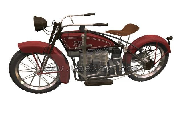 ACE Retro Style Motorcycle 3d rendering
