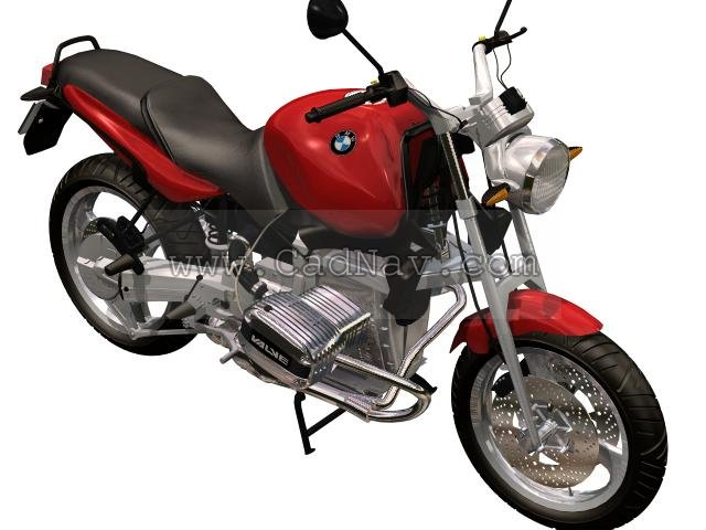 BMW R1100R sport-touring motorcycle 3d rendering