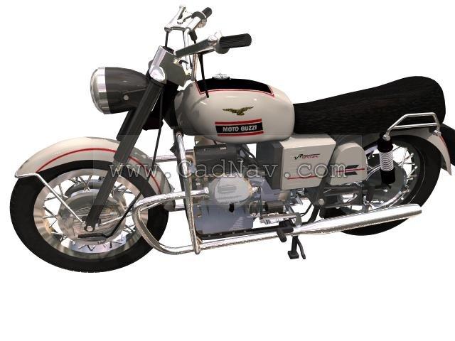 Moto Guzzi V7 sport 3d rendering