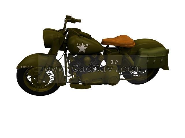 Harley-Davidson XA Military motorcycle 3d rendering