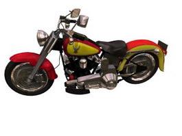 Harley-Davidson Fat Boy motorcycle 3d model preview