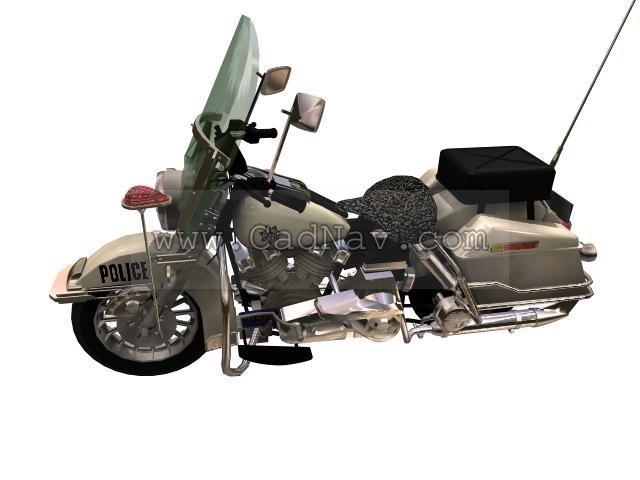 Harley-Davidson FL Softails Police motorcycle 3d rendering