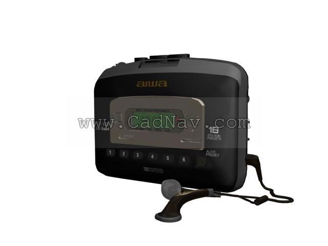 AIWA TX656 CD player 3d rendering