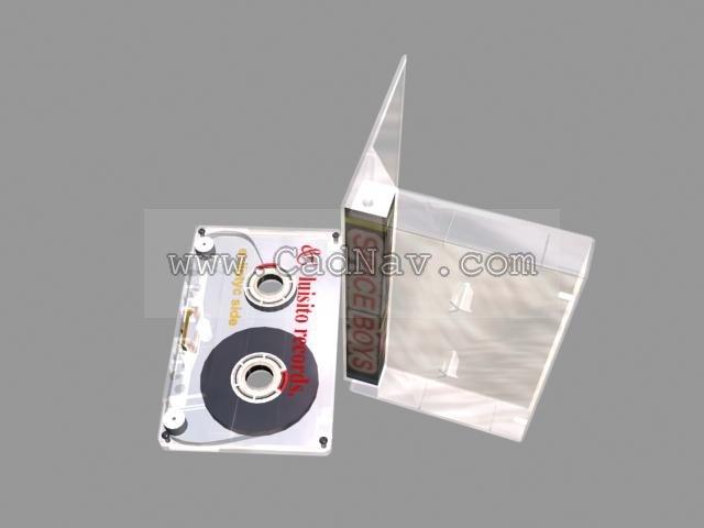 Magnetic tape cassette 3d rendering