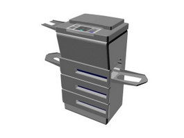 Office duplicator machine 3d preview