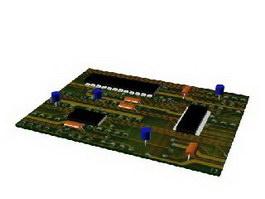 Printed circuit board PCB 3d preview